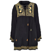 Embroidered Babydoll Blouse on Sale for $34.95 at HippieShop.com