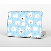 """The Subtle Blue & White Faced Cats Skin Set for the Apple MacBook Air 11"""""""