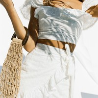 Eyelet Frill Skirt - Bottoms by Sabo Luxe
