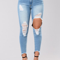 Lose Myself Jeans - Light Wash