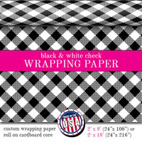 Wrapping Paper In Black And White Check Pattern | Custom Gift Wrap In Two Sizes Great For Any Occasion. Made In The USA