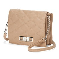 Candie's Quilted Flap Crossbody Bag