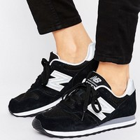 New Balance 373 Trainers In Black at asos.com