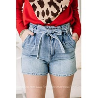 Off We Go High Rise Paper Bag Shorts