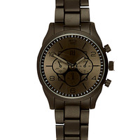 River Island MensBlack metal bracelet watch