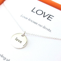 Love Charm Necklace Set