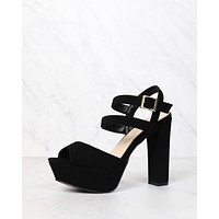 Double Strap Platform Pumps in More Colors