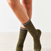 Out From Under Lurex Varsity Stripe Crew Sock - Urban Outfitters