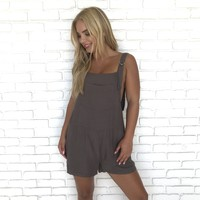 Simple Times Olive Overall