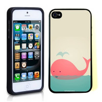 iPhone 5 5S Case ThinShell TPU Case Protective iPhone 5 5S Case Shawnex Cute Pink Whale