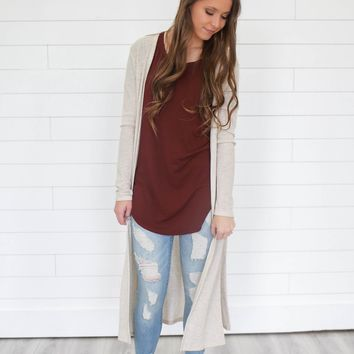 Hang With Me Cardigan - Natural