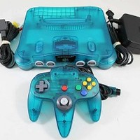 Ice Blue Nintendo 64 System Console used