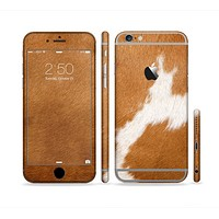 The Real Brown Cow Coat Texture Sectioned Skin Series for the Apple iPhone 6
