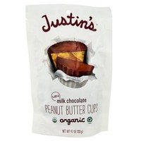 Justin's Organic Mini Milk Chocolate Peanut Butter Cups 4.7 oz Bags - Single Pack - Walmart.com