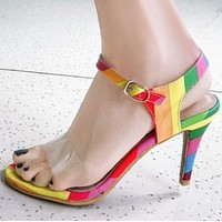 New one-word strap-back peep-toe sandals shoes