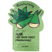 Tony Moly I'm Real - Aloe Face Mask Sheet - Moisturizing (2 pack)