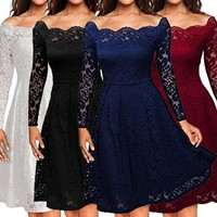 Bestseller! Women's Off Shoulder Lace Dress