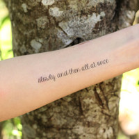 The Fault in Our Stars John Green Temporary Tattoo