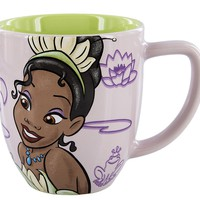 Disney Parks Princess Tiana Portrait Never Give Up Ceramic Coffee Mug New