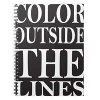 Color Outside the Lines Notebook