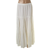Theory Womens Selbia Linen Tiered Maxi Skirt