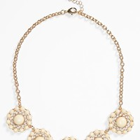 Junior Women's Stephan & Co. Floral Statement Necklace