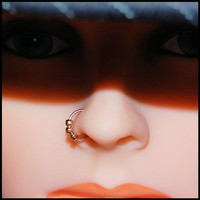 Tiny Beads Rose Pink Gold Filled Catchless / Seamless Nose Ring - CUSTOMIZE