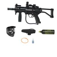 Tippmann A5 A-5 Paintball Gun Red Green Dot Stock SMG Basic Pack - Paintball Store WaveToGo