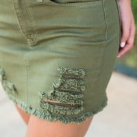 All You Need Skirt, Olive