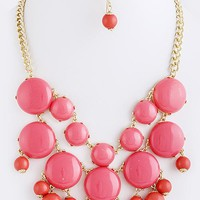 Betty Bubble Cluster Necklace
