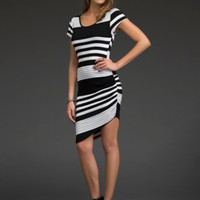 Short Cut Out Ruched Dress