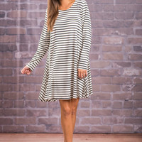 Searching For Love Dress, Ivory/Black