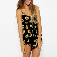 Casual Sunflower Playsuit