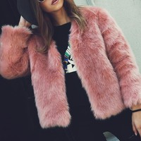 *online exclusive* fur coat