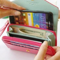 Multicolored Crown Smart Leather Pouch