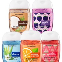 5-Pack PocketBac Sanitizers Tropic Boost