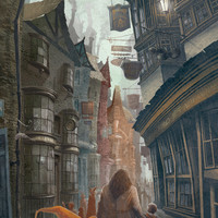 Harry Potter Poster Diagon Alley Travel Poster