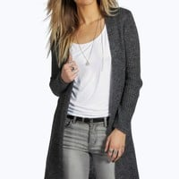Nancy Soft Knit Long Edge To Edge Cardigan