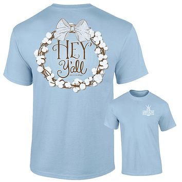 Southernology Preppy Hey Y'all Cotton Chambray Comfort Colors T-Shirt