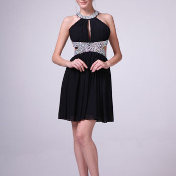 PRIMA C1518 Cut Out Homecoming Cocktail Dress