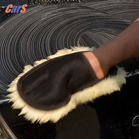 Beige Car Cleaning Cloth Wool Glove Wash Cleaning Supplies for Car Accessories microfiber car wash car cleaning