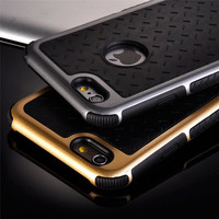 Ultra Thin Shockproof Rubber PC and TPU Hybrid Case Cover For Apple iPhone 5S SE 6 6S 6 plus High Quality Shell EC882/EC883