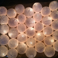 35 cotton ball light in white 4 meters long string light patio pom pom ball garland decoration party hanging lantern