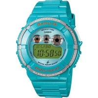 Casio BGD121-2 Baby-G Round 200M Water Resistant World Time 5 Daily Alarms