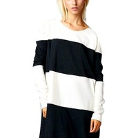 Terry Knitted Colorblock Tunic