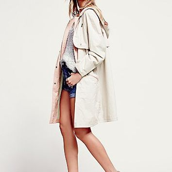 Free People Womens Techy Nylon Parka