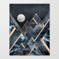 Stormy Mountains Canvas Print by Elisabeth Fredriksson