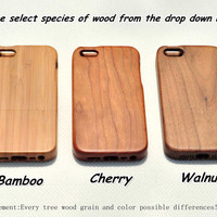 Real wood iphone 5c case, wood iphone 5 5s case, iphone 4 4s case cover,wooden iphone 5 case  cover,gift Eco-friendly