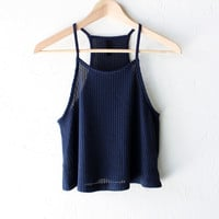 Knit Swing Cami Crop Top
