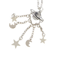 LOVEsick Planet Moons Stars Long Necklace